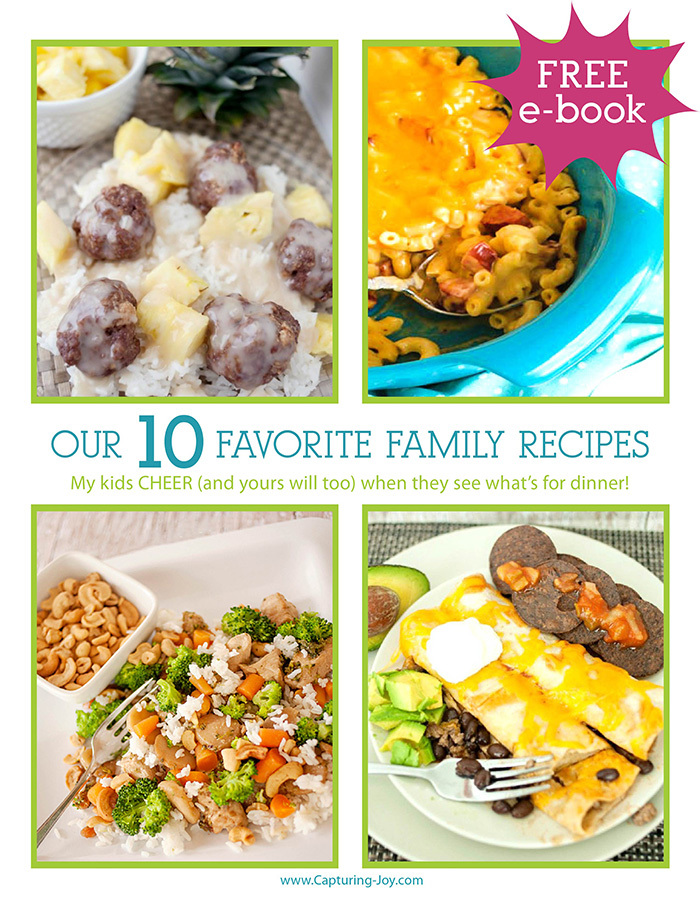 Capturing Joy Favorite Family Recipes Free E-book