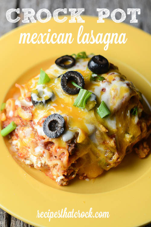 Easy crock pot mexican lasagna