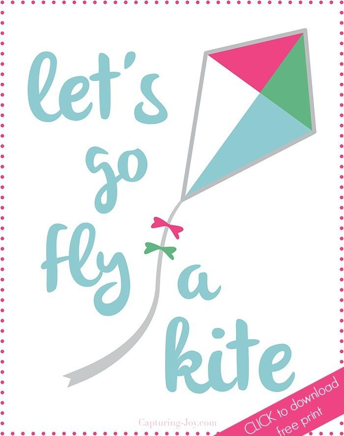 Free Spring Printable, Let's go Fly a Kite