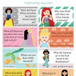 Free Disney Princess lunch box jokes
