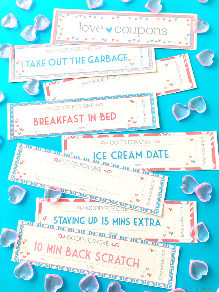 Free Printable Love coupons perfect for Valentine gift