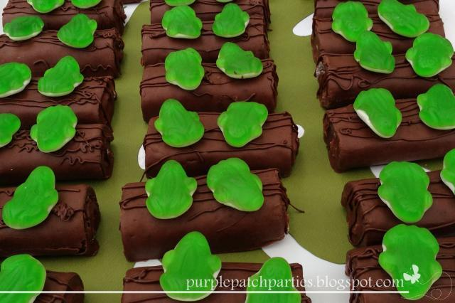 Frogs on a log leap day snack idea