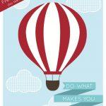 Hot Air Balloon Print