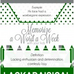 Memorize a Word a Week with your kids set 3