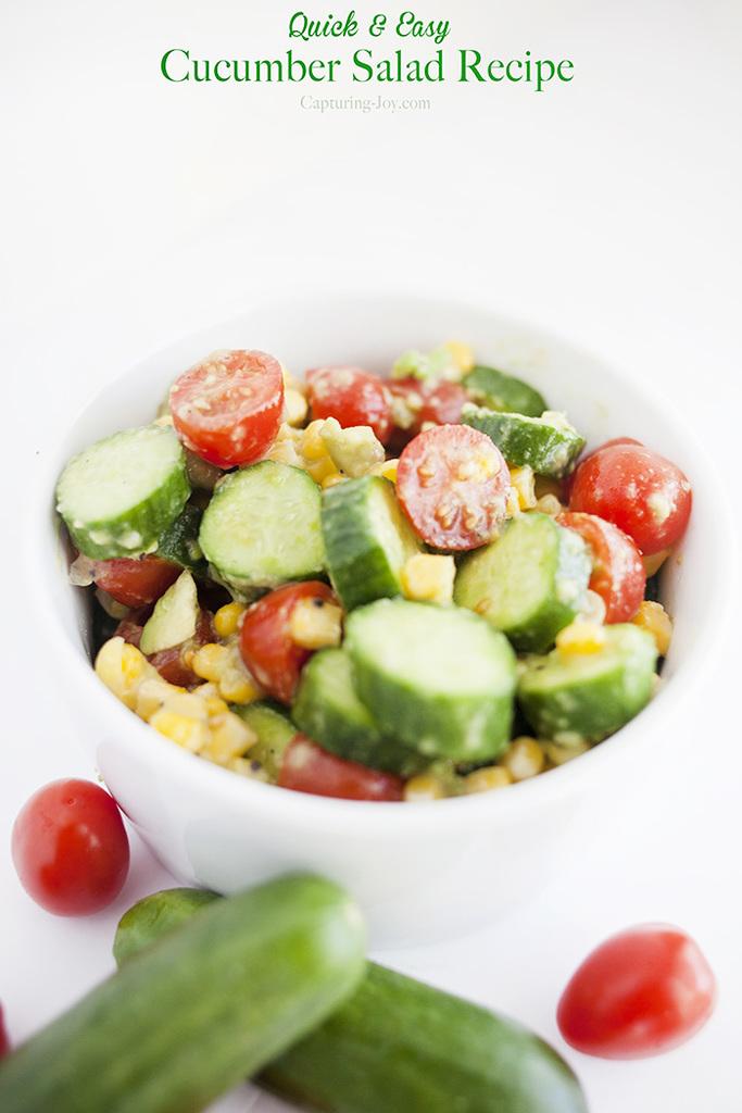 Cucumber Salad - Capturing Joy with Kristen Duke