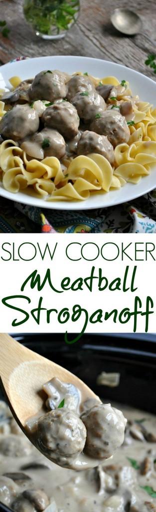 slow cooker meatball stroganoff recipe