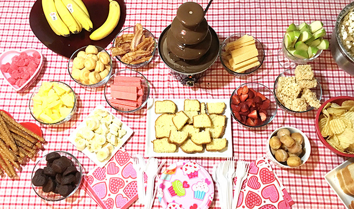 Have a fondue party with these toppings