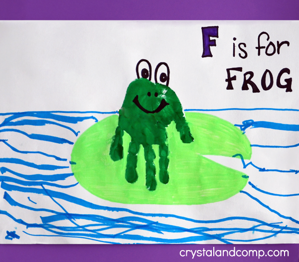 frog hand print leap day craft