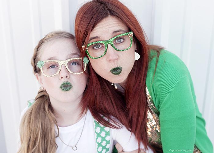 green lipstick for st. patricks day