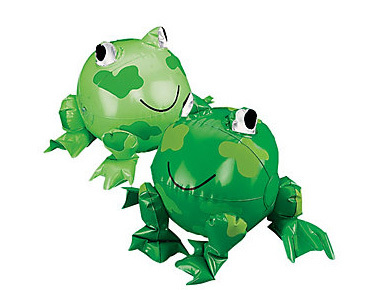 Inflatable frog beach ball for leap day party idea