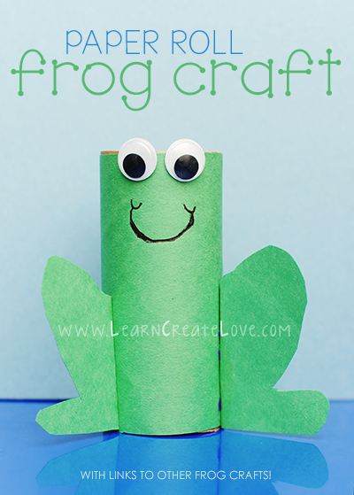 toilet paper roll frog craft for leap day