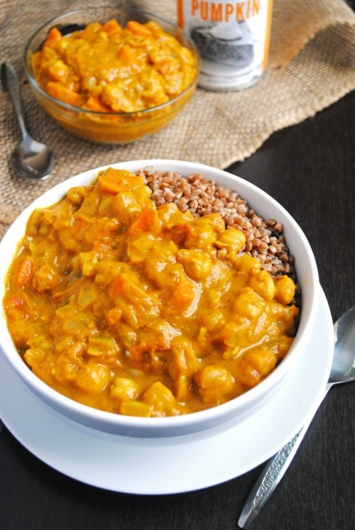 chickpea pumpkin coconut curry recipe