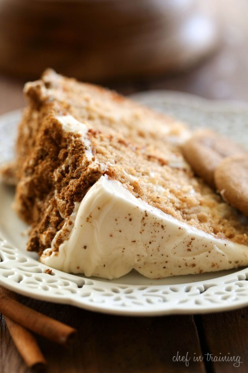 Gingersnap spice cake recipe