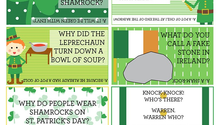 St. Patricks Day Lunch Box Jokes