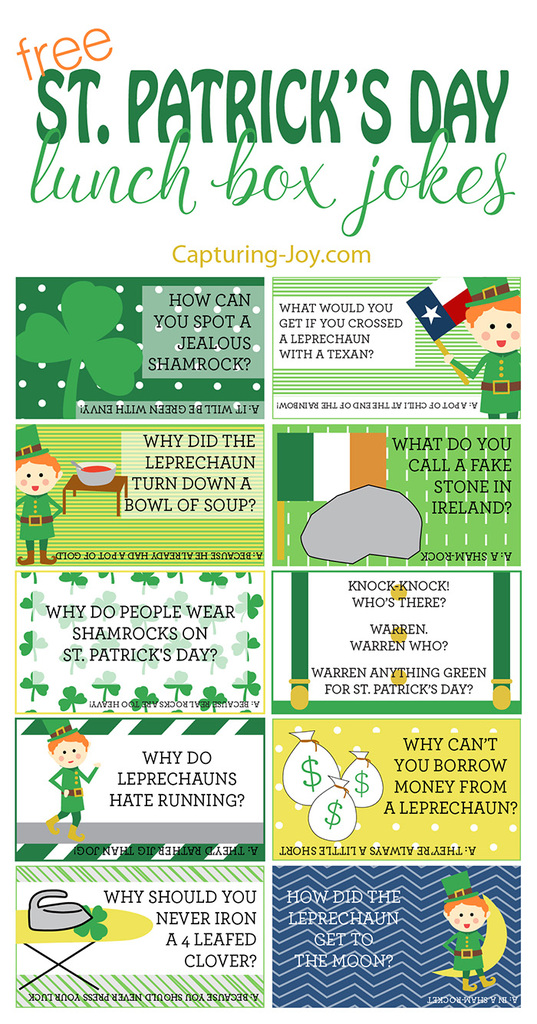 St. Patricks Day Lunch Box Jokes