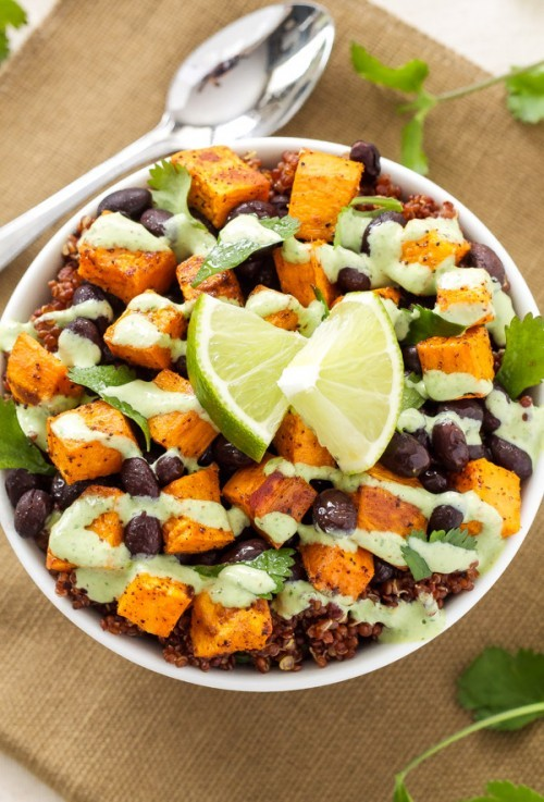 sweet potato and black bean quinoa bowl - sweet potato recipes