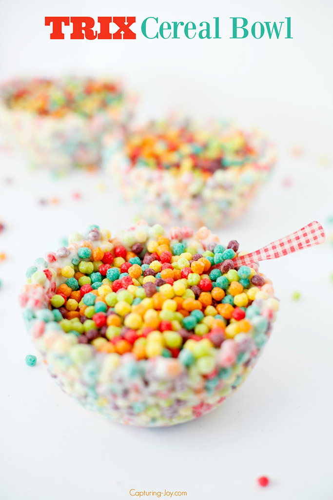 Trix Cereal Bowl on National Cereal Day