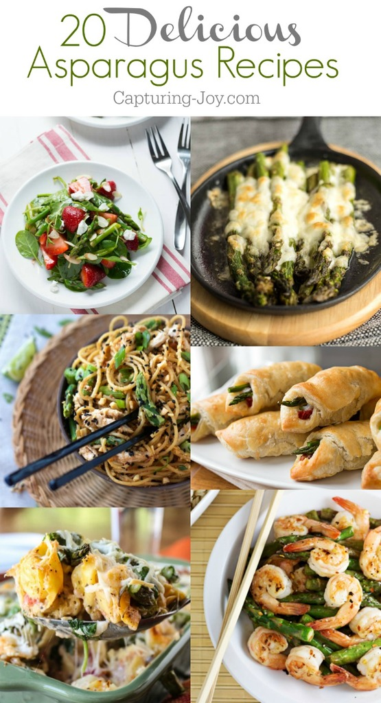 20 of the most delicious asparagus recipes! From pastas to soups!