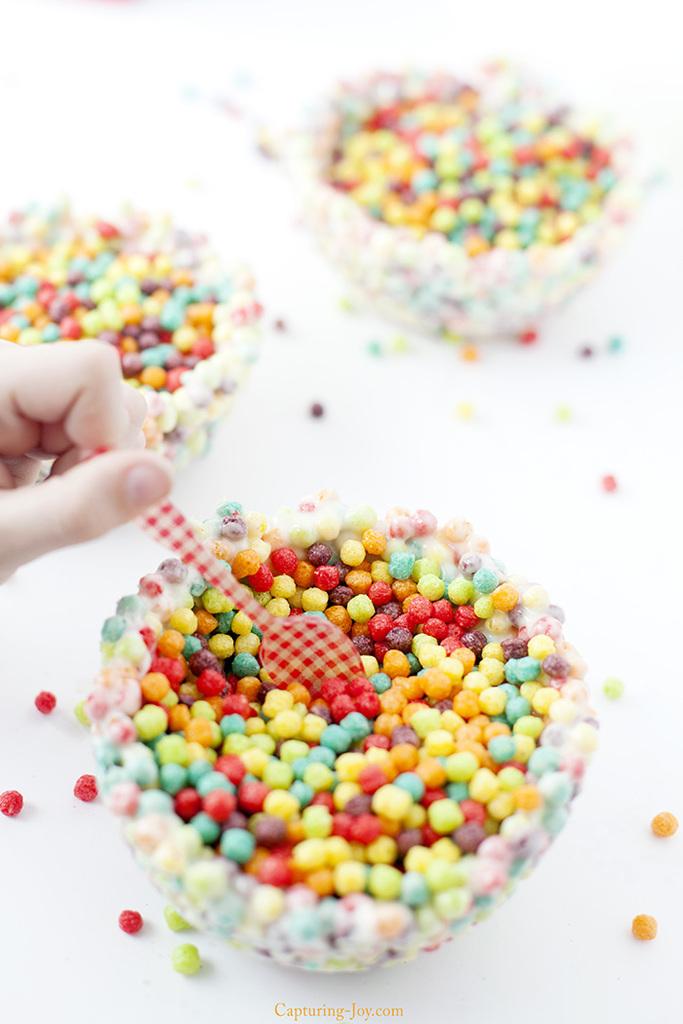 Fun family activity cereal bowl treat