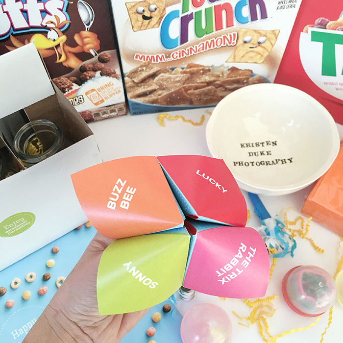 cereal fortune teller game