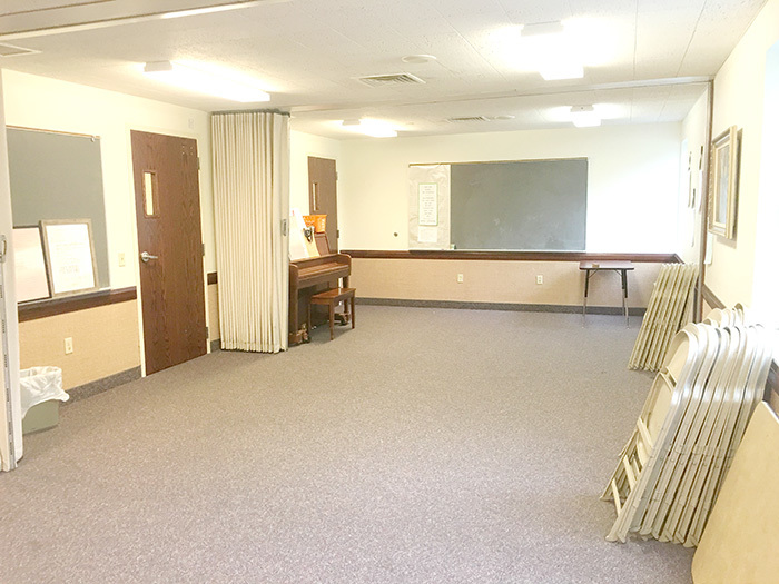 church room before transformation
