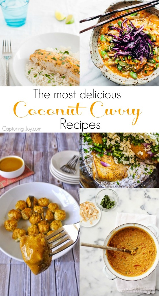 15 of the best of the best coconut curry recipes from around the web! Check it out on Capturing-Joy.com!