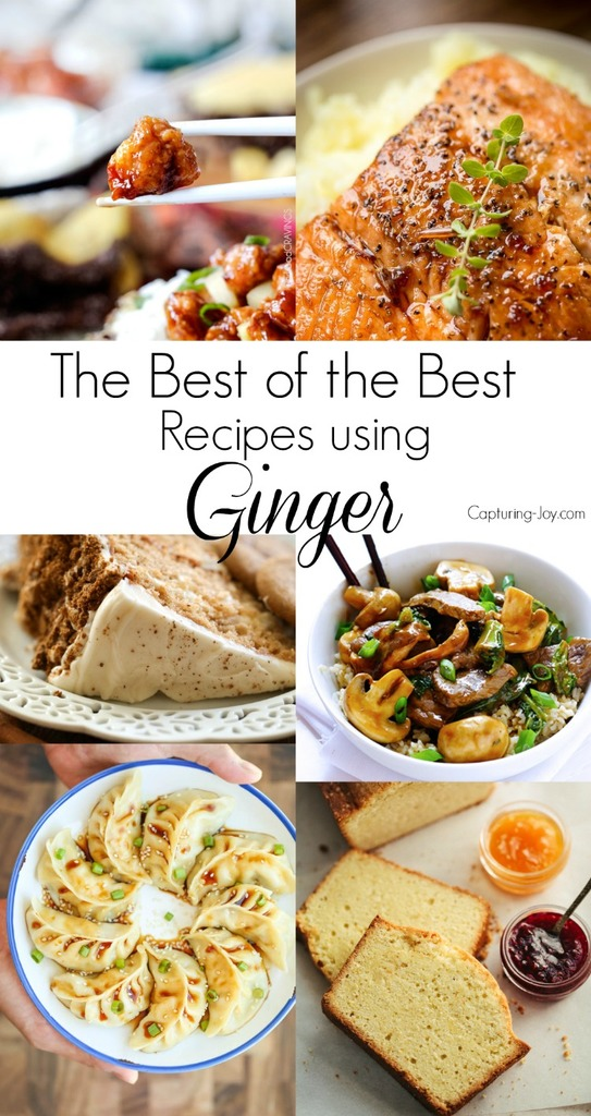 20 of the best recipes using ginger! From dinner to dessert to sidedishes! Capturing-Joy.com