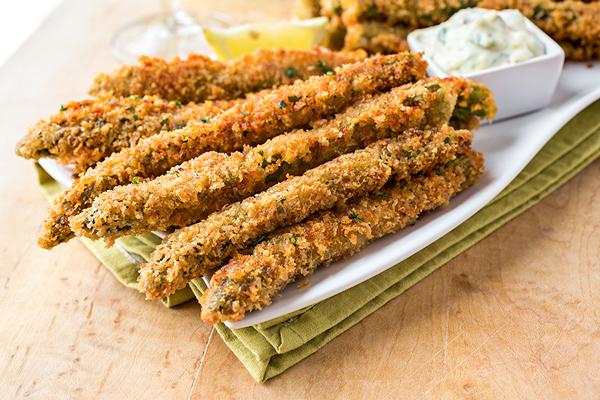crispy Parmesan asparagus