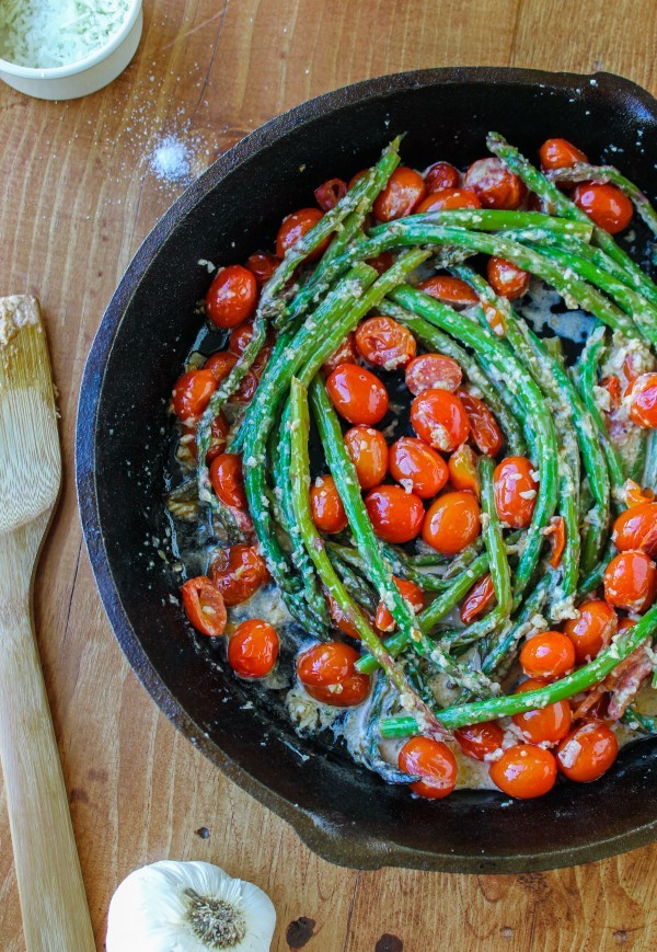 sauteed asaparagus with cherry tomatoes
