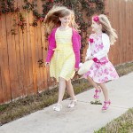 skipping in Easter dresses