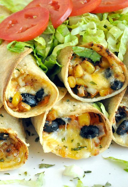sweet potato recipes - sweet potato black bean flautas