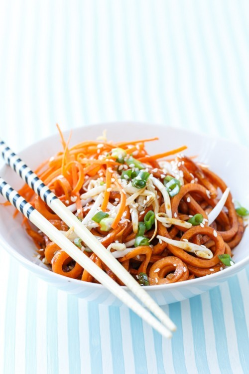 sweet potato soy noodles - sweet potato recipes