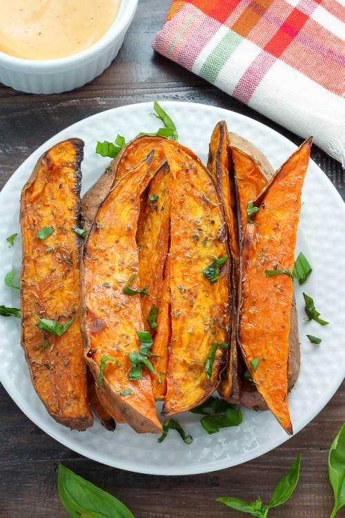 sweet potato wedges - sweet potato recipes