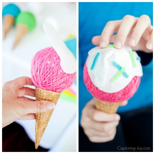 How to make ice cream banner