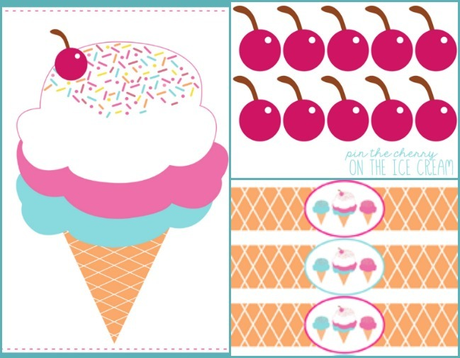picture relating to Printable Ice Cream Cones titled Pin the Cherry upon the Ice Product Cone - 30 Homemade Times