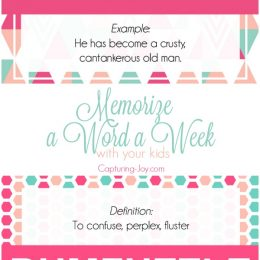 Memorize a Word a Week in May