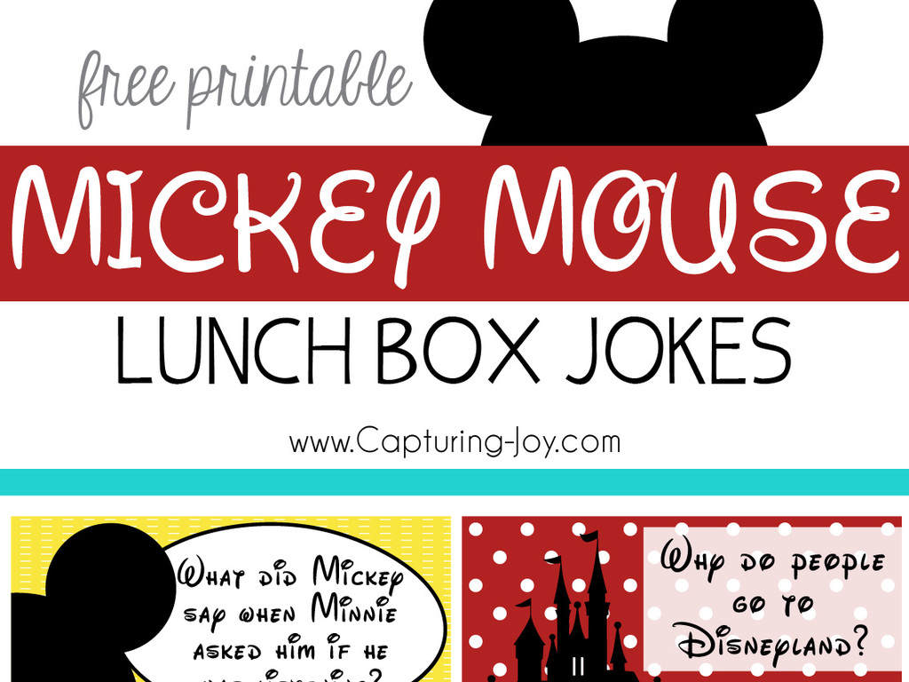 Mickey Mouse Lunch Box Jokes