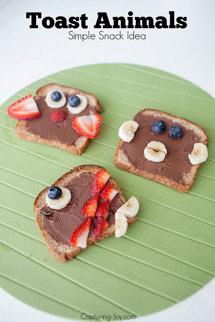 Toast Animals Simple Snack Idea