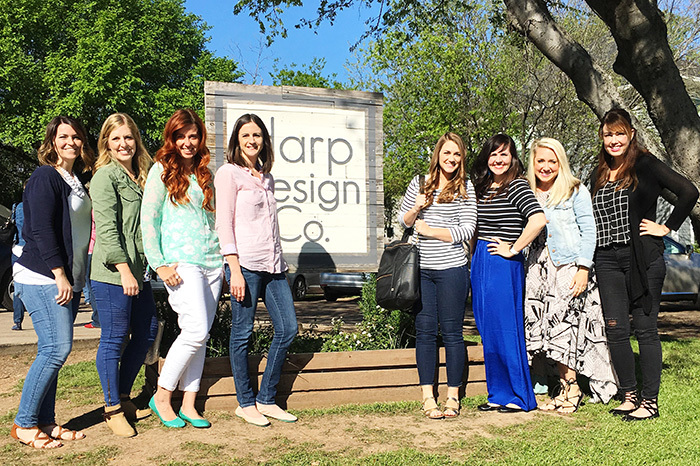 bloggers at Harp Design Co. in Waco