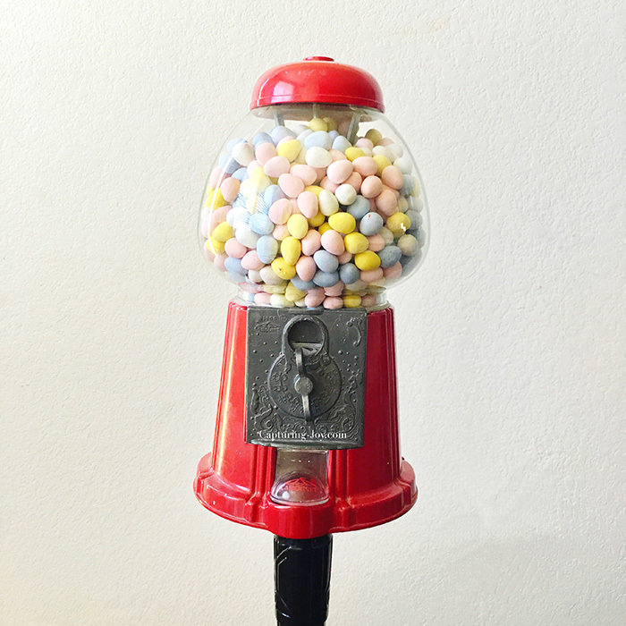 cadbury mini eggs in gumball machine