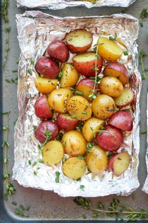easy potatoes in foil