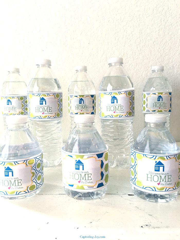 guest water bottles