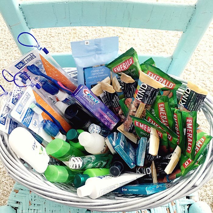 Welcome basket for house guest extras