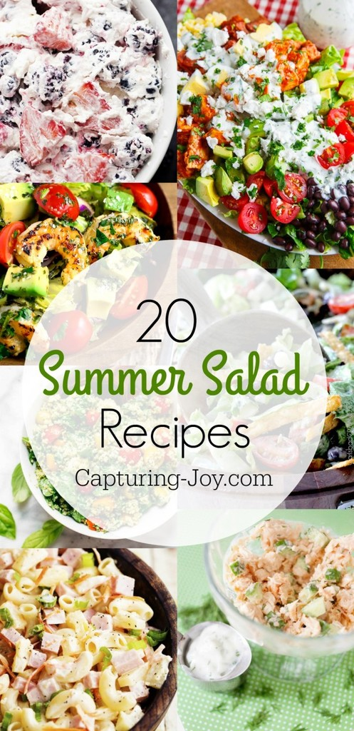 20 Salads perfect for spring and summer! Check them all out on Capturing-Joy.com!