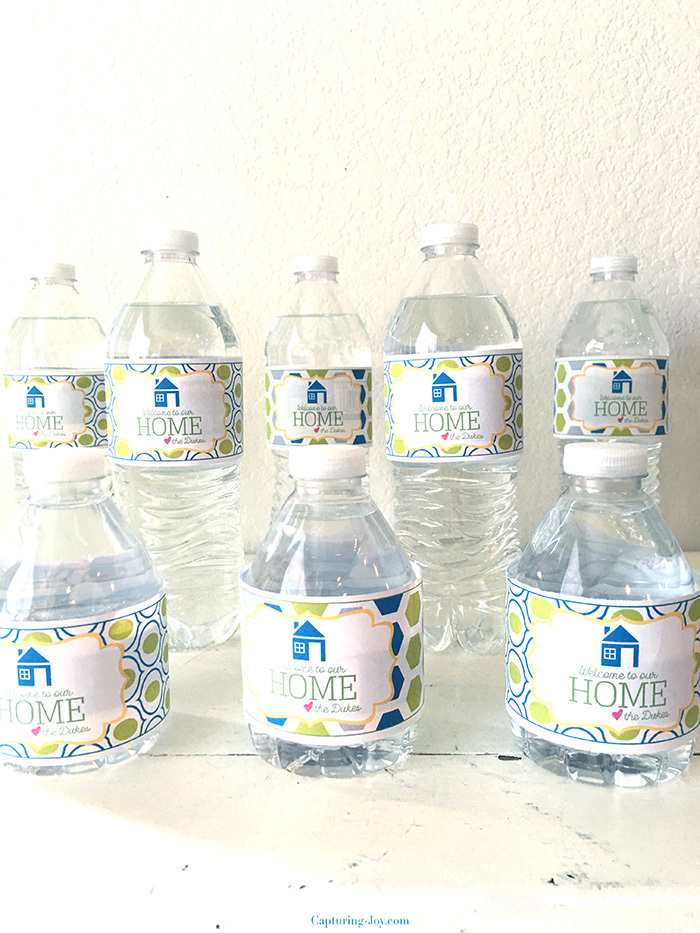 welcome to our home water bottle labels
