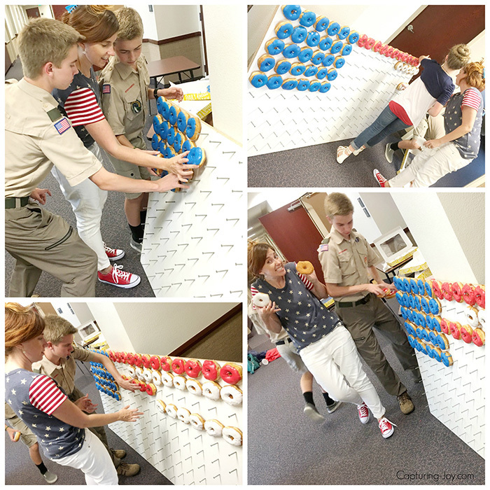 American Flag Donut Wall Assembly