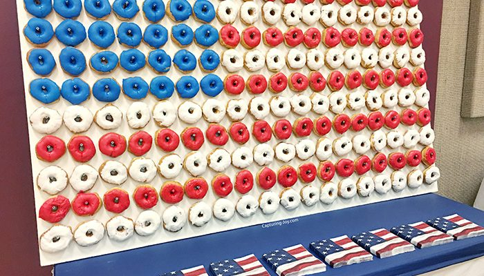 American Flag Donut Wall Display for Eagle Scout