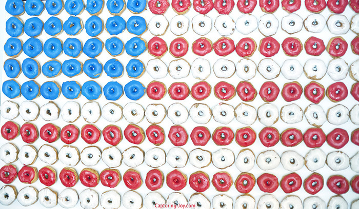 How to Make Donut Wall American Flag