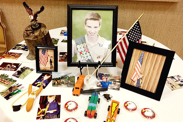 Eagle Scout Court of Honor Table display