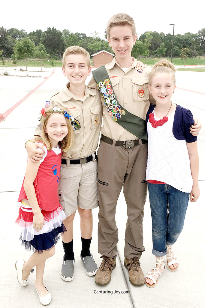 Eagle Scout and Siblings